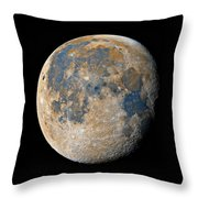 Waning Gibbous Moon / Day 18 Throw Pillow