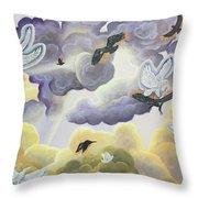 War In Heaven Throw Pillow