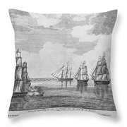 War Of 1812: Sea Battle Throw Pillow