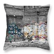 Warehouse In Lisbon Throw Pillow