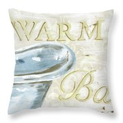 Warm Bath 2 Throw Pillow