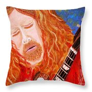 Warren Haynes Throw Pillow