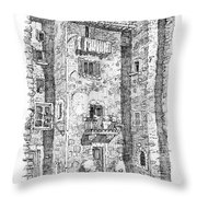 Wash Day In Montalcino Italy Throw Pillow
