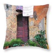Washing Day Tuscany Throw Pillow