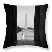 Washington Monument And Capitol Hill Throw Pillow