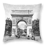 Washington Square Arch Throw Pillow