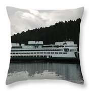 Washington State Ferry  Throw Pillow