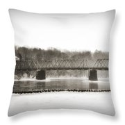 Washingtons Crossing Bridge Throw Pillow