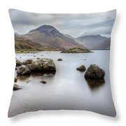 Wastwater Long Exposure Throw Pillow