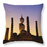 Wat Mahathat Throw Pillow