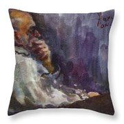 Man Watching Tv  Throw Pillow