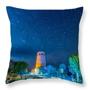Watchtower Over The Grand Canyon   Arizona Throw Pillow