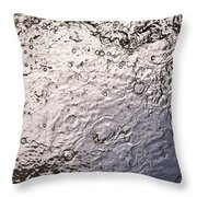 Water Abstraction - Liquid Metal Throw Pillow