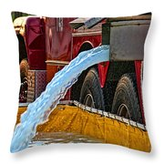 Water Dump Throw Pillow