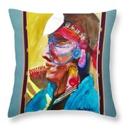 Water Healing Ceremonial Chief Yaz Throw Pillow