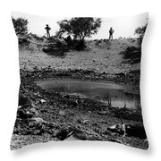 Water Hole Dead Cattle Cowboys  Drought Tohono O'odham Indian Reservation Near Sells Az 1969 Throw Pillow