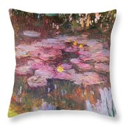 Water Lilies 1917 Throw Pillow