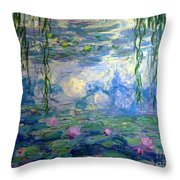 Water Lilies, Nympheas, By Claude Monet,  Musee Marmottan Monet, Throw Pillow