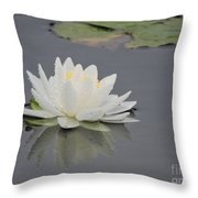 Water Lily Collection Throw Pillow
