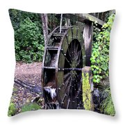 Water Mill Throw Pillow