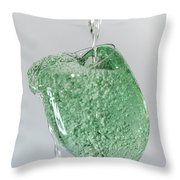 Water Splashing In A Wine Glass Throw Pillow