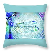 Watercolor Wings Throw Pillow