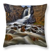 Waterfall Canyon Throw Pillow