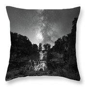 Waterfall Milky Way Throw Pillow