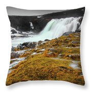 Waterfalls Of Iceland Throw Pillow