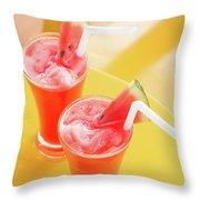 Waterlemon Smoothie Throw Pillow