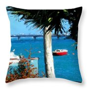 Watford Bridge From Cambridge Beaches Throw Pillow