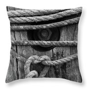 Weathered Rope Throw Pillow