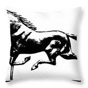 Weathervane, 19th Century Throw Pillow
