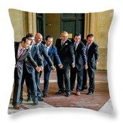 Wedding Men Throw Pillow