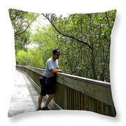 Weedon Island Boardwalk  Throw Pillow