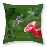 Welcome To The Garden Throw Pillow