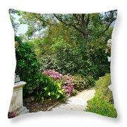 Welcome To My Garden Throw Pillow