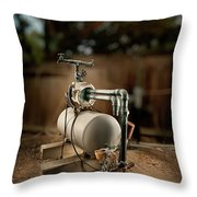 Well Pump Throw Pillow