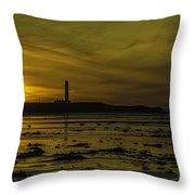 West Beach Sunset Throw Pillow