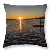 West Seattle Sunrise Throw Pillow