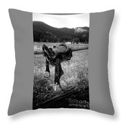 Western Saddle Throw Pillow