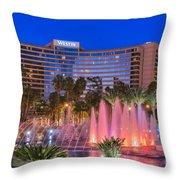 Westin Hotel Long Beach Throw Pillow