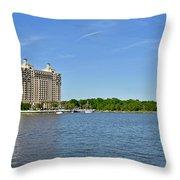 Westin Hotel On The Savannah Waterfront Throw Pillow