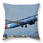 Westjet Boeing 737-8ct C-gwsz Magic Plane Phoenix Sky Harbor January 22 2016 Throw Pillow