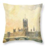 Westminster Palace And Big Ben London Throw Pillow