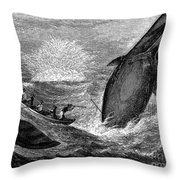 Whaling, 19th Century Throw Pillow by Granger