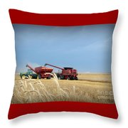 Wheat Harvest 2016 Throw Pillow