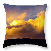 When God Picks Up A Paintbrush... Throw Pillow