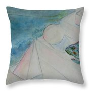 When Time Began Throw Pillow