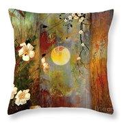 Whisper Forest Moon II Throw Pillow